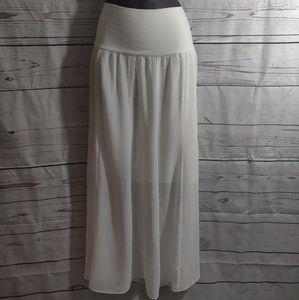 Vince Camuto Sheer White Skirt